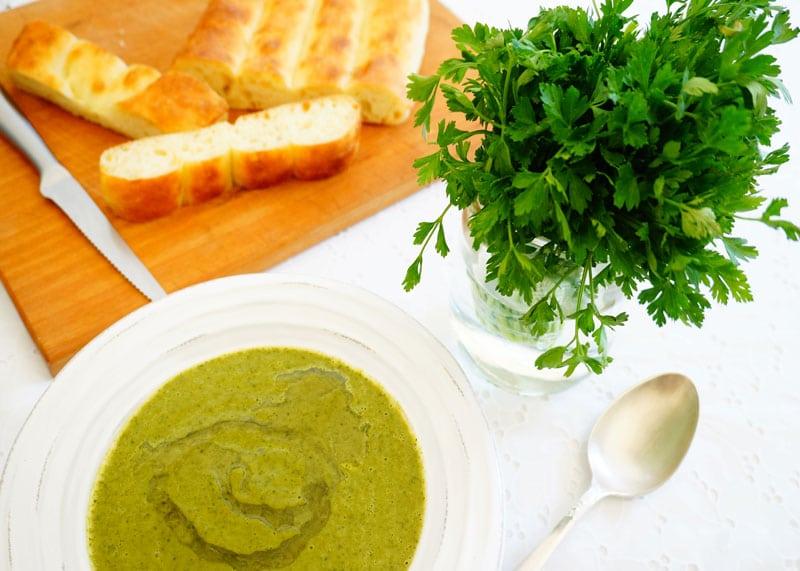 Рецепт супа пюре из петрушки фото