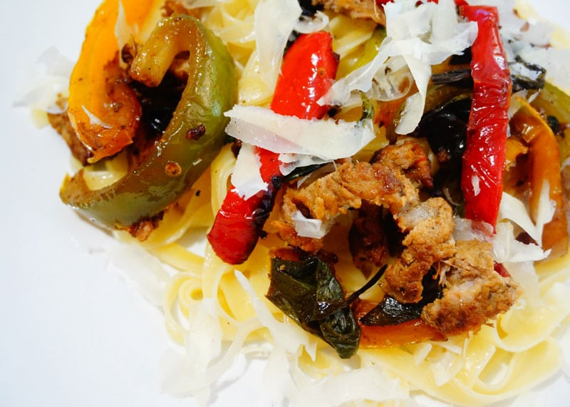 Рецепт пасты тальятелле с телятиной фото