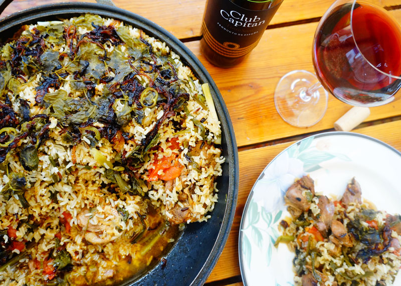Баранина с рисом и овощами рецепт фото