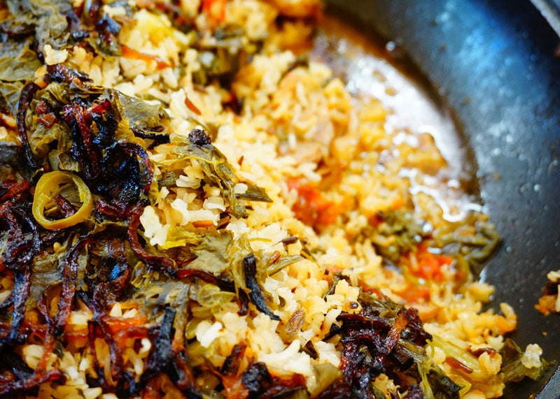 Баранина с рисом и овощами приготовление фото