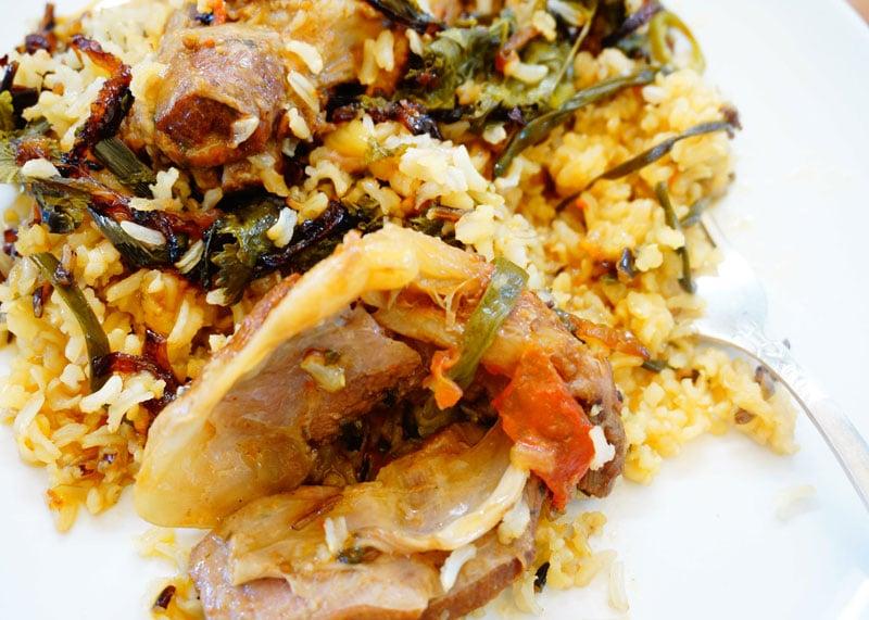 Рецепт баранины с рисом и овощами фото
