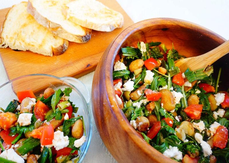 Картофельный салат с фетой рецепт фото