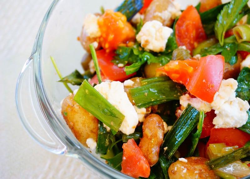 Рецепт картофельного салата с фетой фото