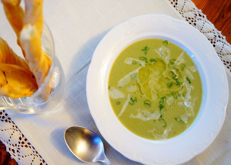 Крем суп из молодой капусты рецепт фото