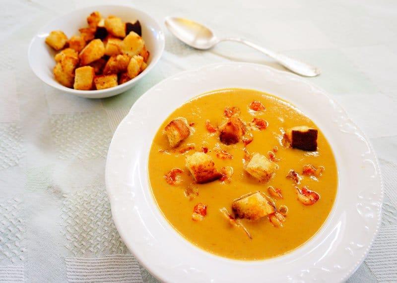 Крем суп из раков рецепт фото