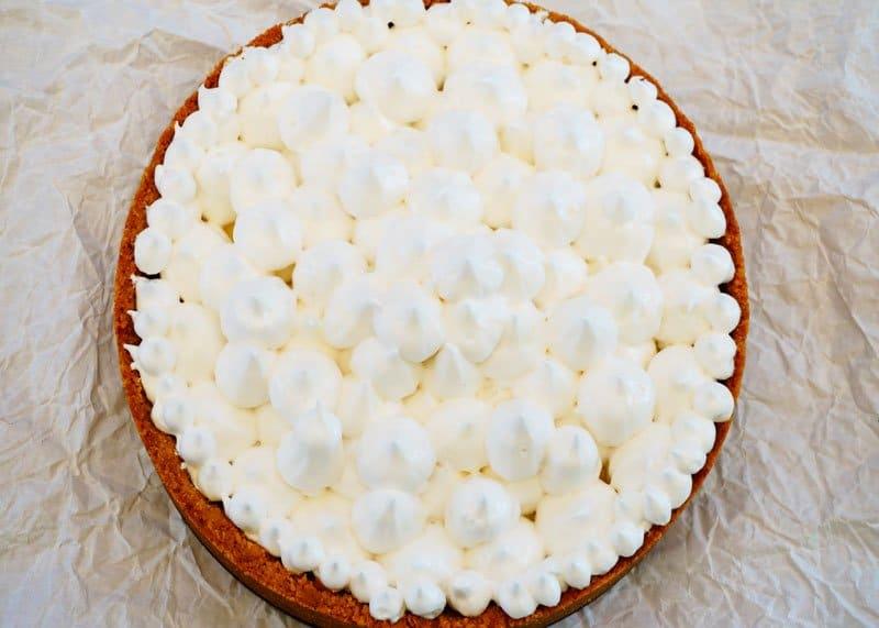 Лимонный пирог с меренгами рецепт фото