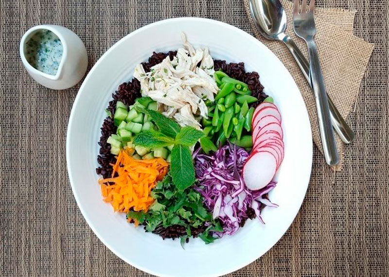 Рецепт салата из курицы и риса фото