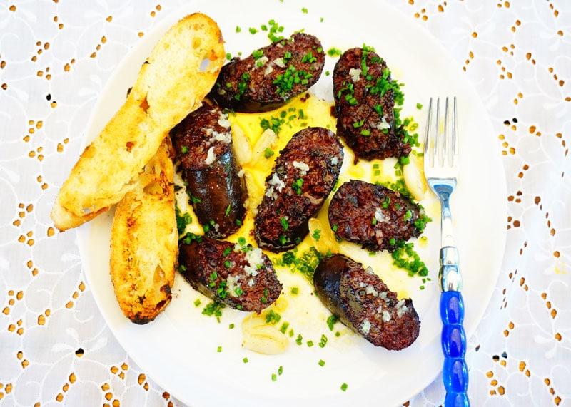 Жареная кровяная колбаса рецепт фото