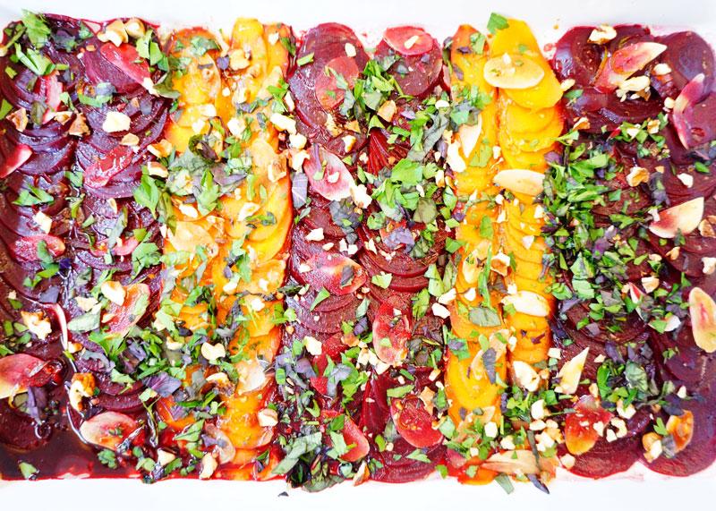 Карпаччо из свеклы и моркови рецепт фото