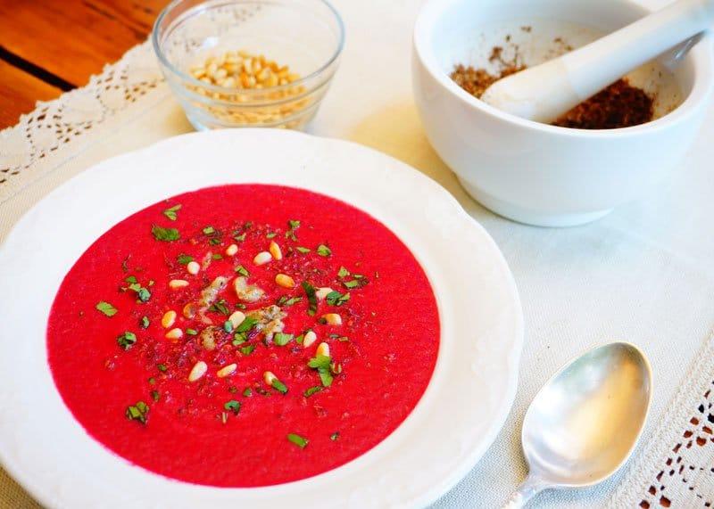 Крем-суп из свеклы рецепт фото