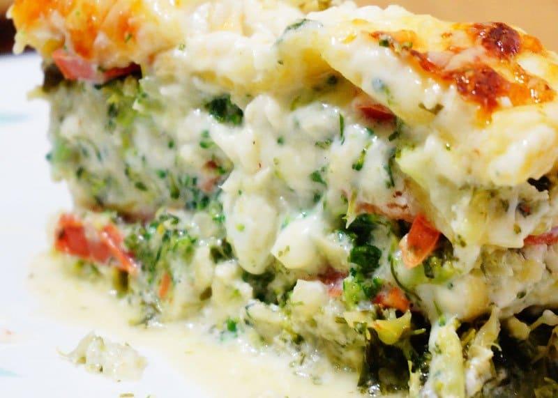 Лазанья из брокколи рецепт фото