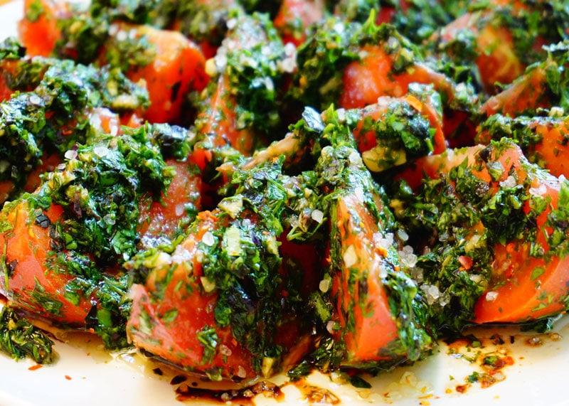 Рецепт помидоров с зеленью фото