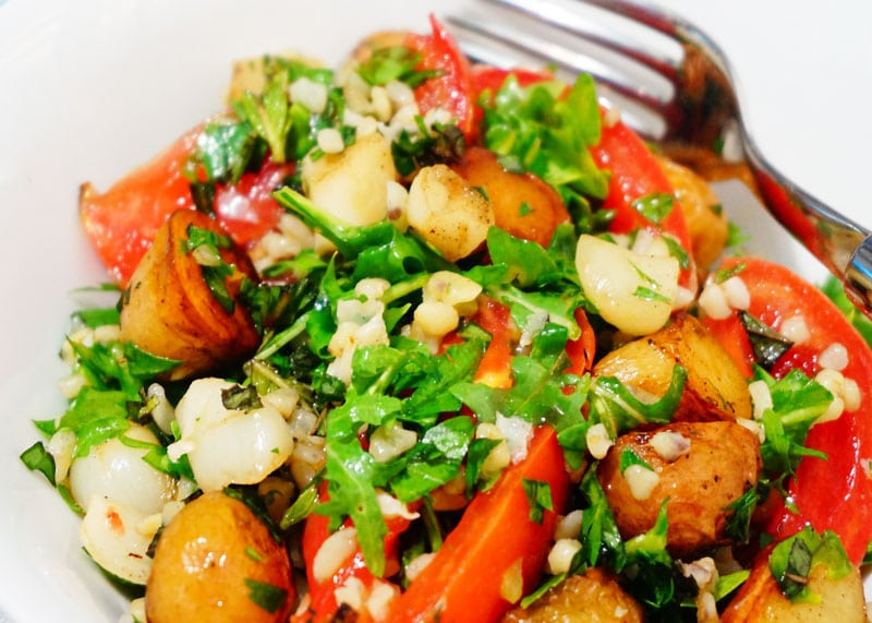 Рецепт салата из булгура и картофеля фото