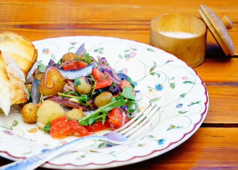 Салат из картофеля и помидоров рецепт фото