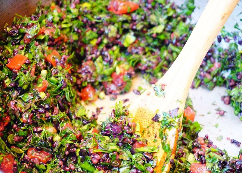 Салат с диким рисом рецепт фото