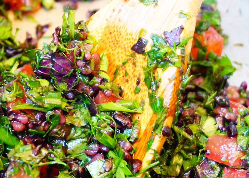 Приготовление салата с диким рисом фото