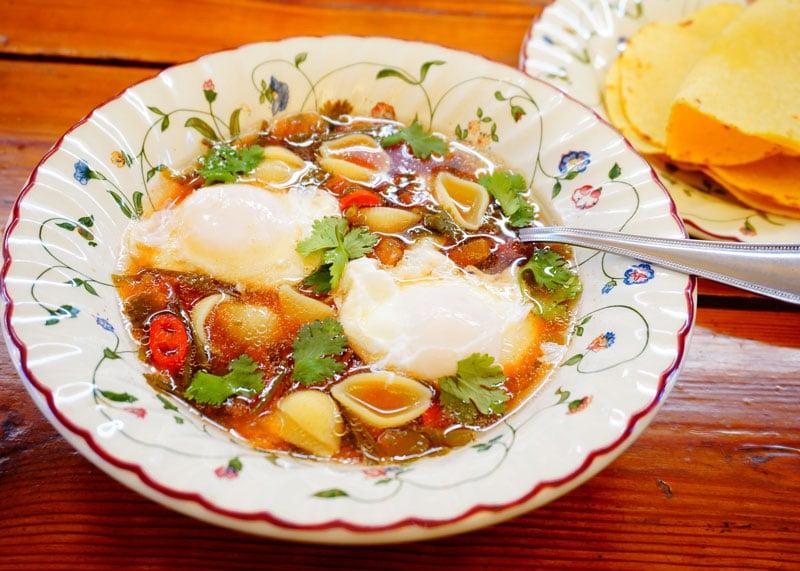 Суп Кальдо де уево рецепт фото