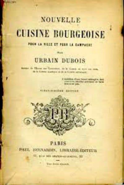 Книга по кулинарии Урбена Дюбуа фото
