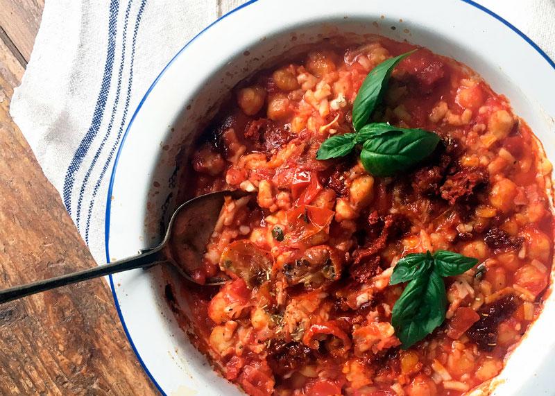 Нут с томатным соусом рецепт фото