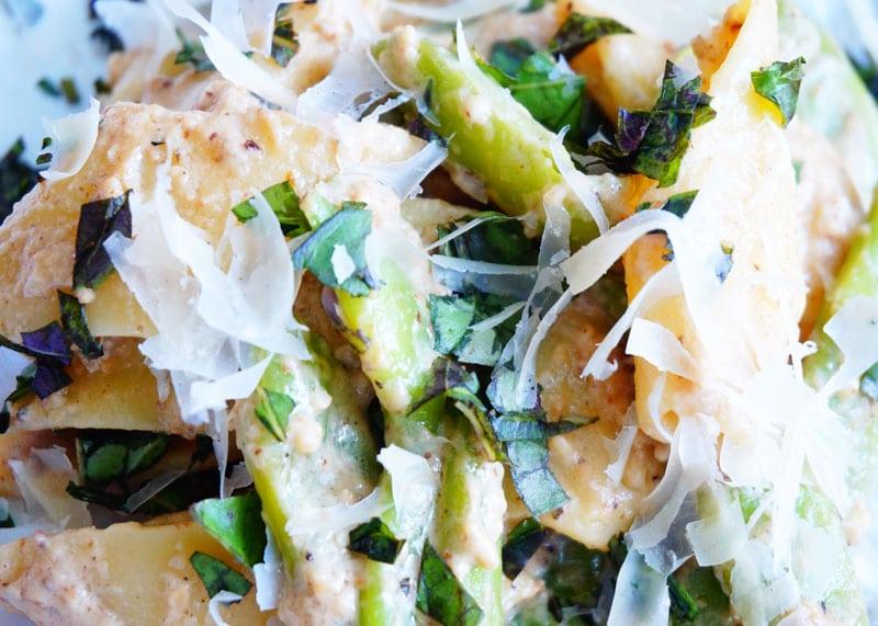 Паста с зеленой фасолью рецепт фото