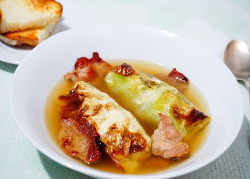Рецепт супа с голубцами фото