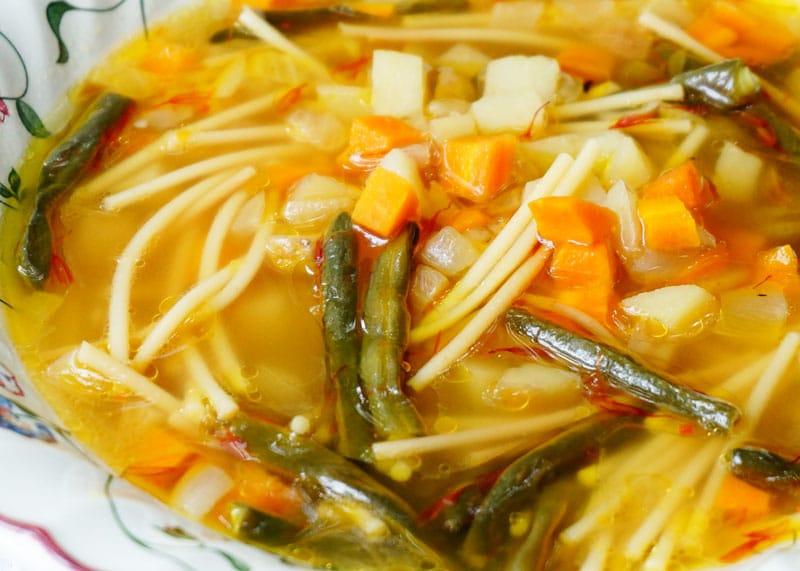 Суп с шафраном рецепт фото