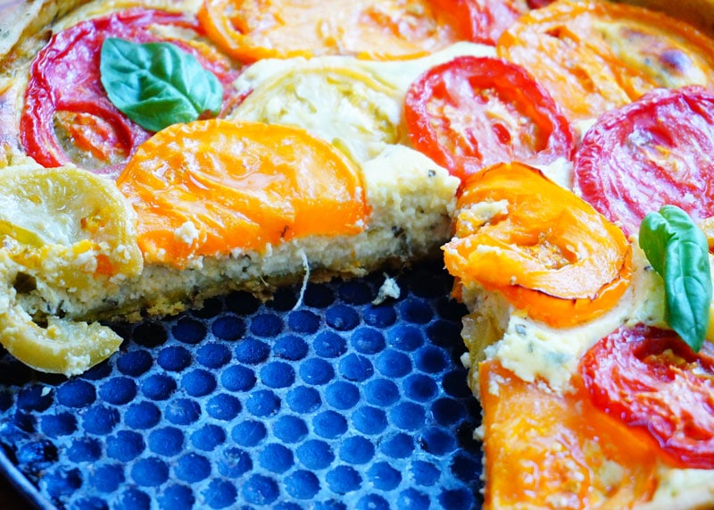 Приготовление тарта с помидорами фото