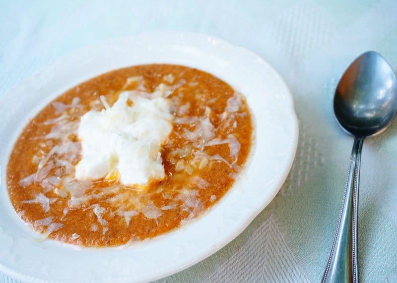 Рецепт томатного супа с орзо фото
