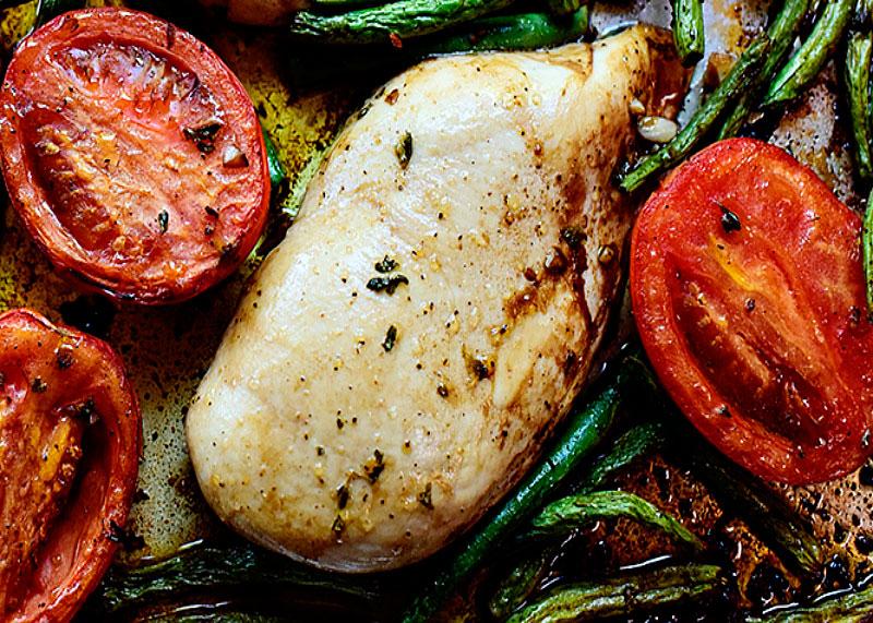 Рецепт цыпленка с фасолью фото