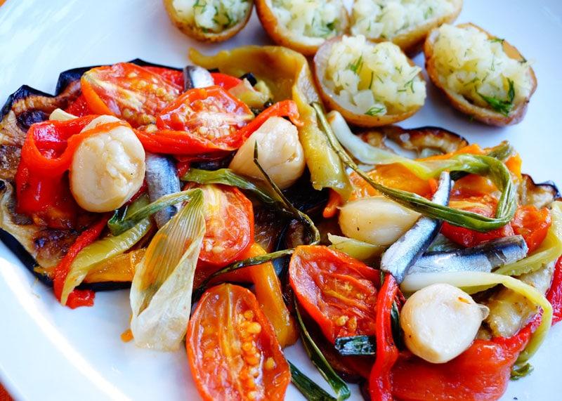 Овощи по-каталонски Эскаливада фото