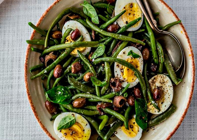 Салат из фасоли и яиц фото