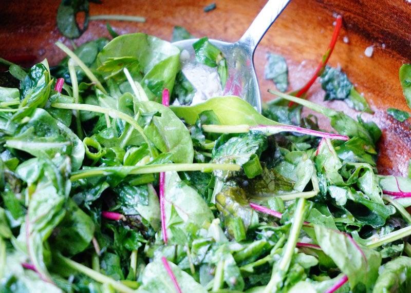 Зеленый салат фото