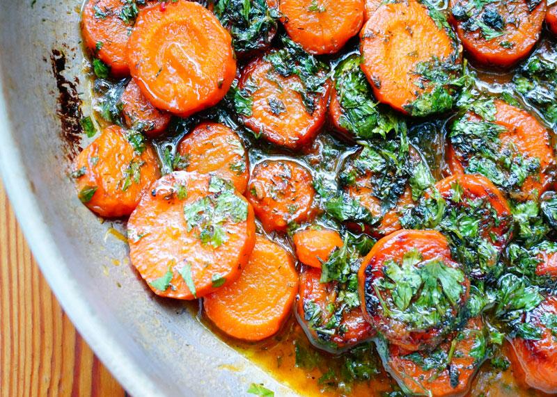 Рецепт карамелизированной моркови фото
