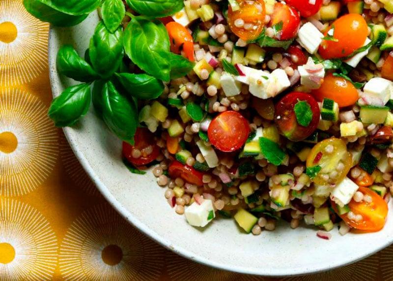 Рецепт салата с кус-кусом и фетой фото