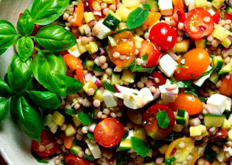 Салат с кус-кусом и фетой фото