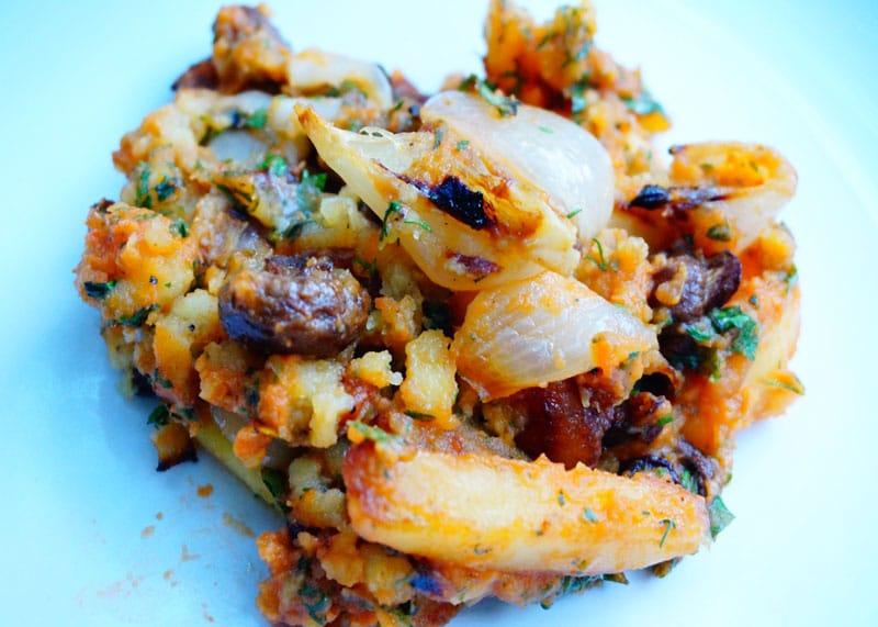 Салат из мятого картофеля фото