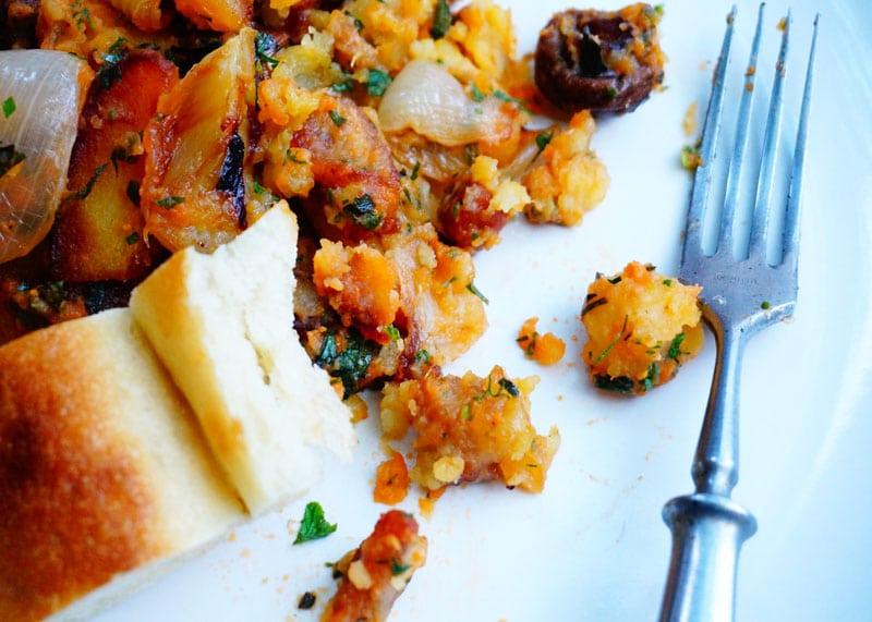 Приготовление салата из мятого картофеля фото