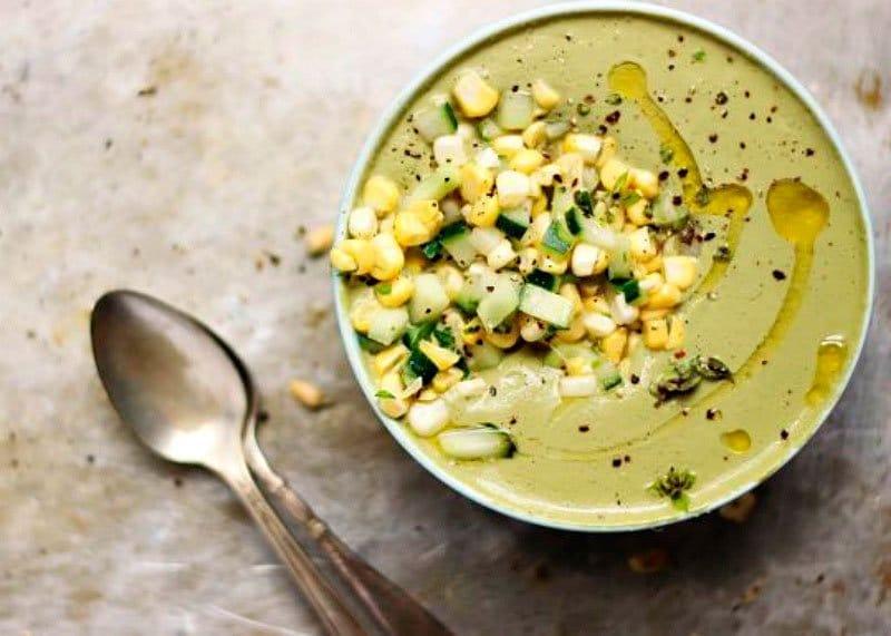 Суп из базилика и кукурузы рецепт фото