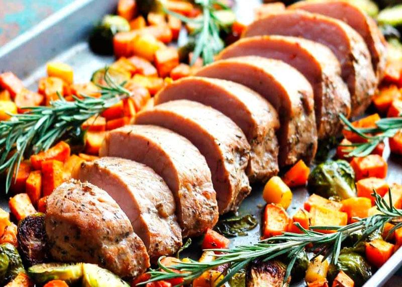 Рецепт свинины с овощами фото