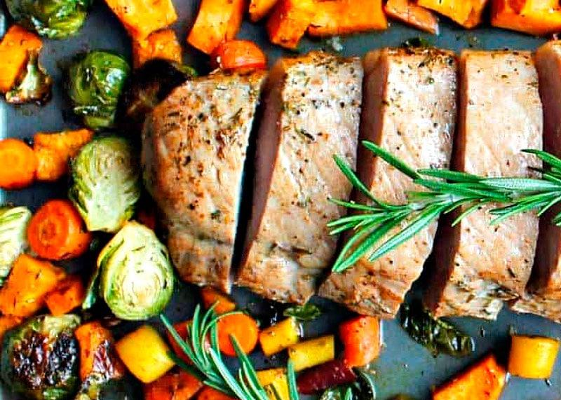 Свинина с овощами фото