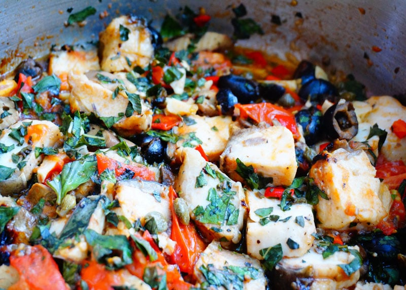 Тальятелле с соусом из рыбы фото