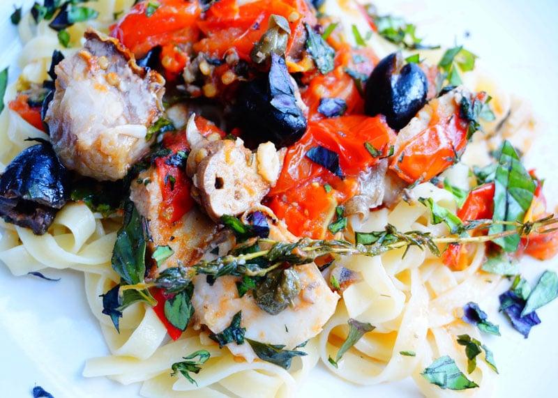 Рецепт тальятелле с соусом из рыбы фото