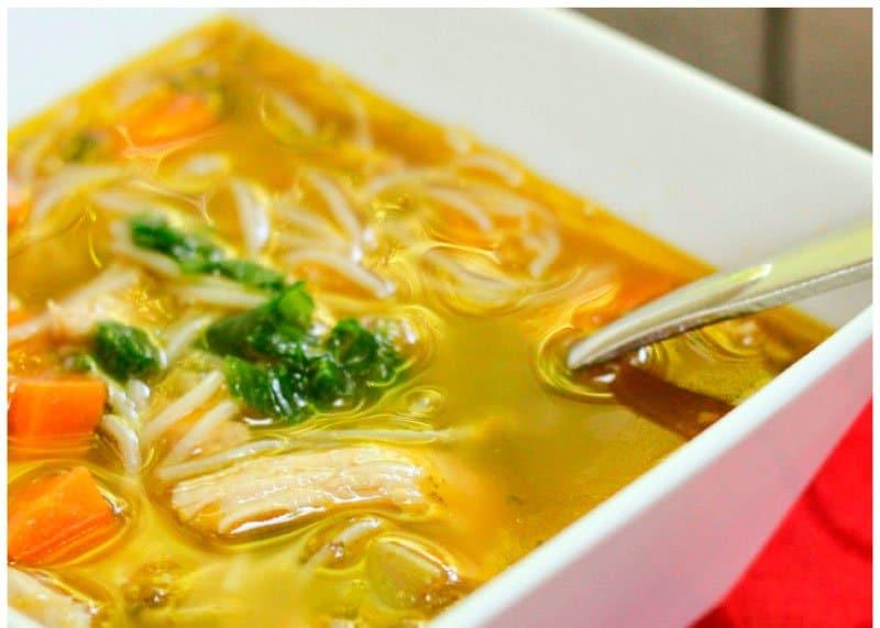 Азиатский куриный суп рецепт фото