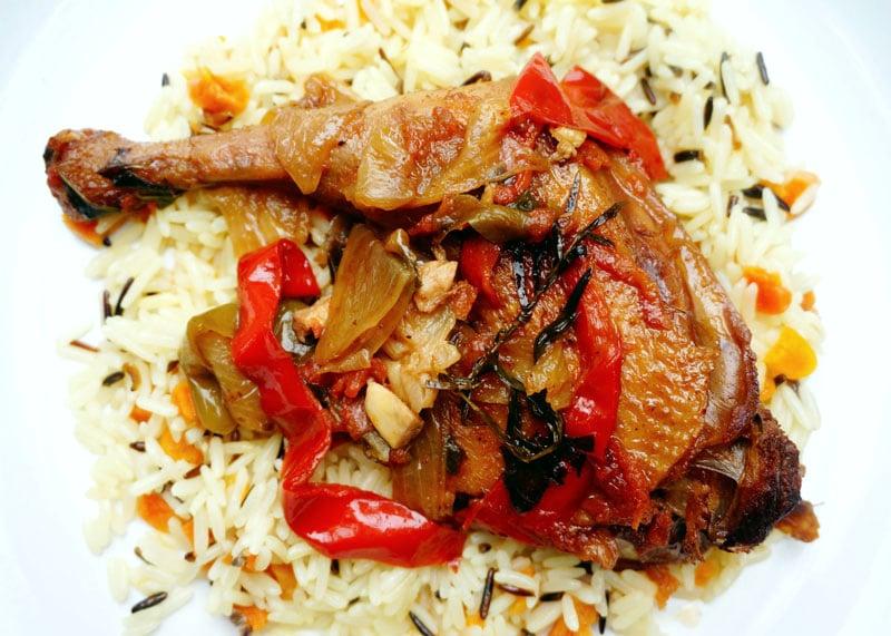Курица со сладким и острым перцем фото