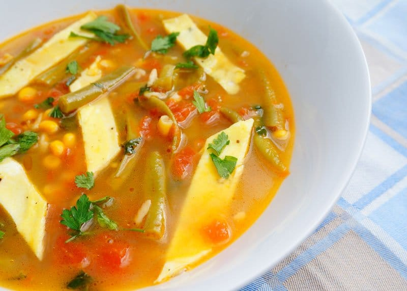 мексиканский суп с помидорами рецепт фото