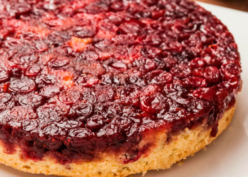 Рецепт пирога с клюквой фото