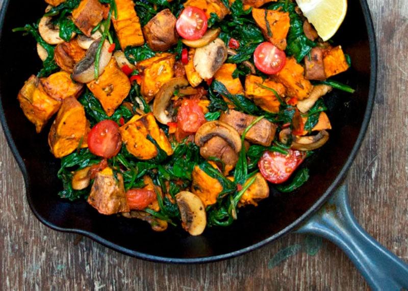 Рецепт салата из сладкого картофеля фото