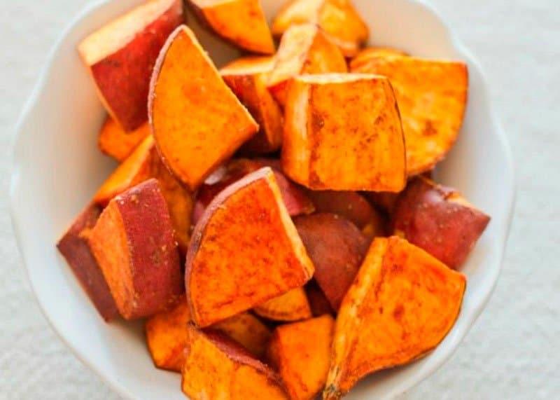 Салат из сладкого картофеля фото