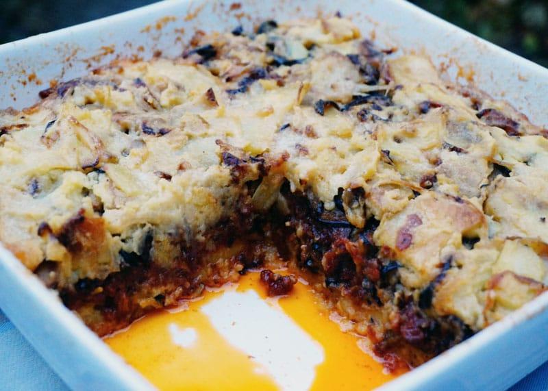 Картофельный пирог с болоньезе приготовление фото