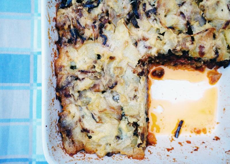 Картофельный пирог с болоньезе фото